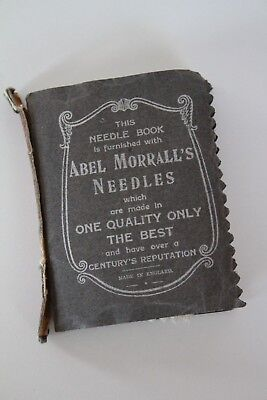 Antique Needle Book Abel Morrall's Made In England Vintage Sewing Sharps Holder