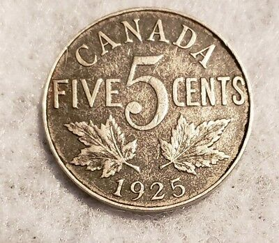 1925 Canada 5 Cents key date