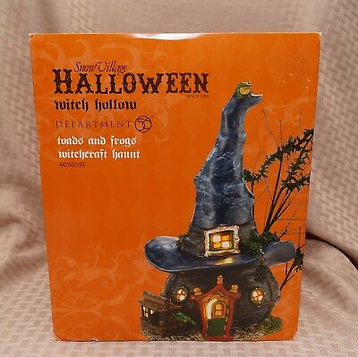 Dept 56 TOADS & FROGS WITCHCRAFT HAUNT - Halloween Witch Hollow 4036591 NICE