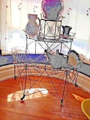 Victorian Wire Plant Stand Wonderful Cottage Elegant Rustic Chic