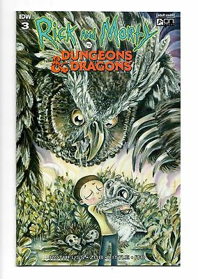Rick And Morty Vs Dungeons & Dragons #3 Richard Variant Cover Idw Near Mint Nm
