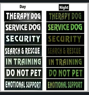 DOG HANDLER Reflective Velcro Badge for Police, Security, Officer Training Glow