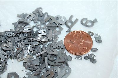 Lot of TINY Lead Metal SIGN PRINT LETTERS and NUMBERS