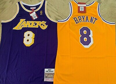 New Kobe Bryant Throwback ROOKIE Jersey #8 Los Angeles Lakers Home & Away S-XXL