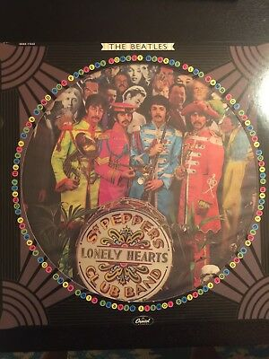 The Beatles Sgt. Pepper Lonely Hearts Club Band Picture Disc Vinyl VG+ / VG+