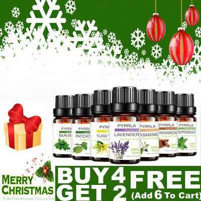 Essential Oils 100% Pure Natural Aromatherapy Essential Oil 10ml Aroma Xmas Gift