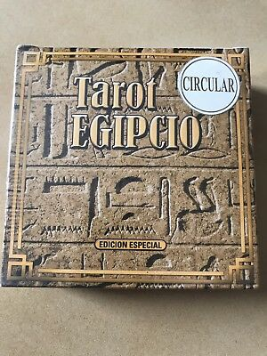 Rare Egyptian Deck Tarot Cards Round Type Made In Argentina New Unused Sealed