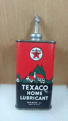 Vintage Texaco Home Lubricant 4 Oz Can