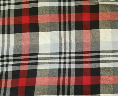 Pottery Barn Kids RED WHITE BLUE PLAID toddler bed crib duvet cover
