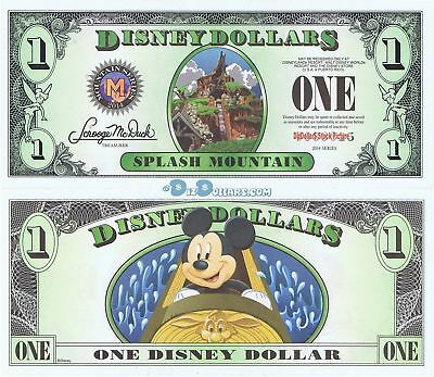2014 D $1 5 Digits MINT UNCIRCULATED SPLASH MT MICKEY Disney Dollar Dollars