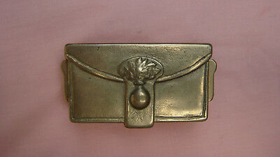 WWII MILITARY BRASS STAMP BOX - 8 1/2 oz