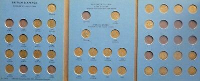 British Six Pence  Collection  in  Folder  1937  to 1952  Plus Extra Old Coins