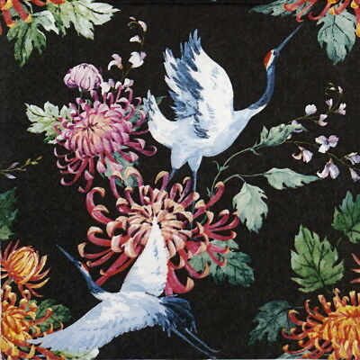 4x Paper Napkins for Decoupage Decopatch Craft Japanese cranes