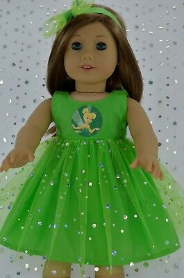 """Doll Clothes For 18"""" American Girl~Our Generation~Journey SEQUIN DRESS~HEADBAND"""