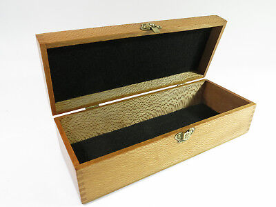 Refinished Antique Solid Birch or Beech Instrument/Presentation/Storage Box