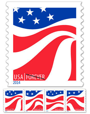 USPS Forever Stamps, 100 US Flag Postage Stamps (Stamp design may vary)