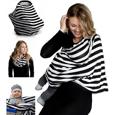 UK Newborn Feeding Breathable Breastfeeding Cover Nursing Privacy Scarf Shawl