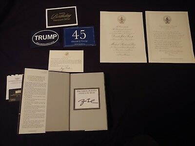 US President collection Donald Trump and George W Bush autograph