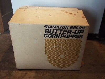 Vintage Hamilton Beach Butter Up Popcorn Maker Endorsed By Joe Namath Model 500