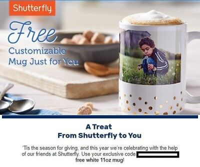 Shutterfly Customizable Mug & 50% OFF Your Order Promotion Code Exp 12/16  12/31
