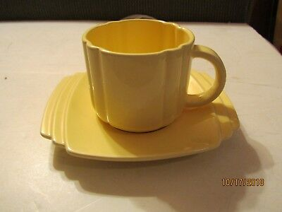 1981 Yellow Coffee Cup & Saucer by 2 Company of Friends