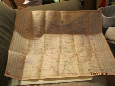 1930 Sohio Automobile Road Map of Ohio Published by Standard Oil Company