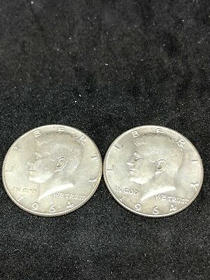 $1 Face Value 90% Silver U.S. Coin Lot - Two Half Dollars Junk Silver (0184)