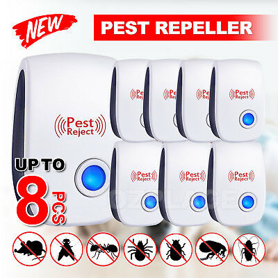 Pest Repeller Reject Ultrasonic Electronic Mouse Rat Mosquito Insect Control OZ