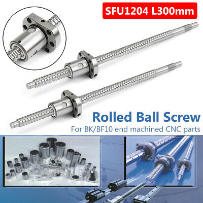 SFU1204 L300mm Rolled Ball Screw C7 with 1204 For BK/BF10 End Machined CNC
