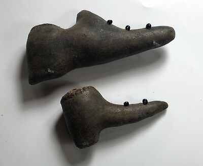 Pair of Antique 1800's Victorian Shoe Pin Cushions
