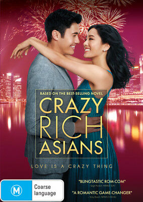 Crazy Rich Asians - DVD (NEW & SEALED)
