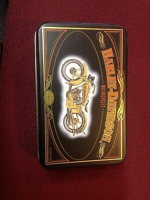 Harley Davidson Limited Edition Playing Cards with Tin, 1997.