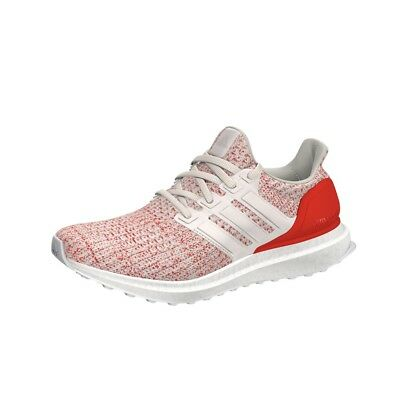 Adidas UltraBoost 4.0  (Chalk White/Chalk White/Active Red) GS Kids Shoes F34034