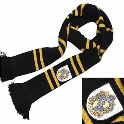 Hufflepuff Thicken Wool Knit Scarf Wrap Soft Warm Harry Potter Costume Cosplay