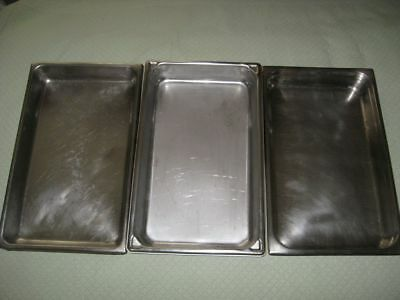 3 Catering Stainless Steel Chafing Dish Chafer Pans Large Baking Pans