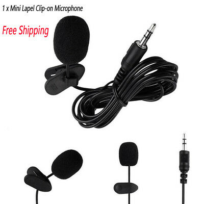 1 x Mini Lapel Clip-on Microphone-3.5mm Jack-Hands-free For Recording&Singing
