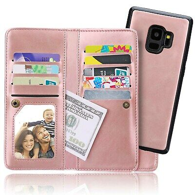 Luxury Leather Wallet Cover S9 Plus Flip Phone Case for Samsung Galaxy Note 8