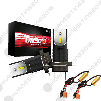 M7 H7 110W 30000LM LED Car Headlight Canbus Bulbs 6000K + Load Resistor Decoder