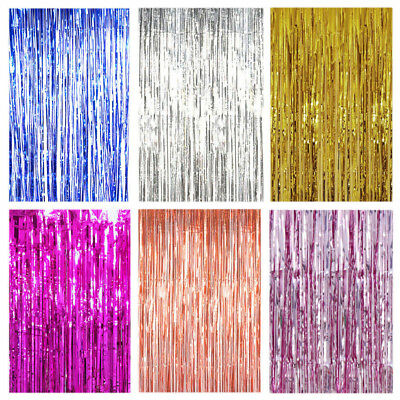 Tinsel Shimmer Foil Door Curtain Hen Party Birthday Wedding Decorations