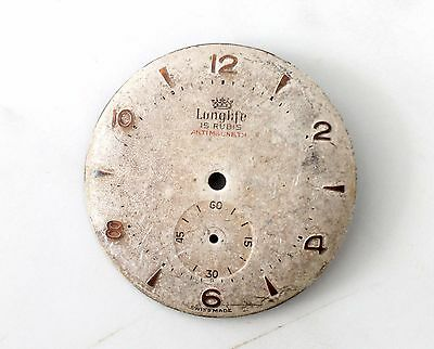 very rare Longlife 15 rubis antimagnetic dial for parts/spares