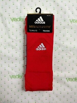 Men's Adidas Traxion climalite Compression Menace Soccer Crew Socks Red  XL12-16