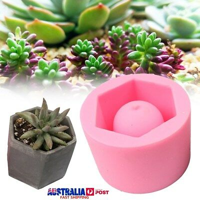Handmade Geometric Silicone Flower Pot Mold Succulent Planter Vase Molding Craft