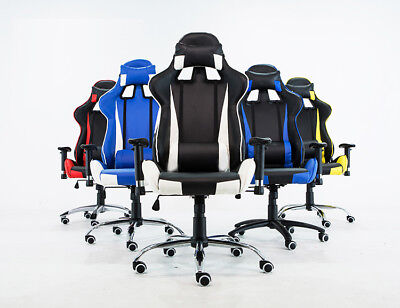 Gaming Chair Racing Style High-Back PU Leather Office Chair Computer Desk Chair