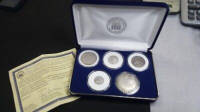 5 (FIVE) Spanish Silver Reales CHOP MARKS on 8 REAL also 4-2-1 & 1/2 REALES COA