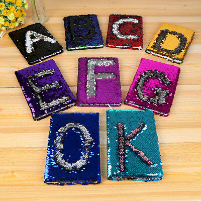 Mini A6/A5 Reversible Sequin Notebook Notepad Journal Diary Book Xmas Girls Gift