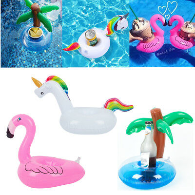 3 Shape Floating Inflatable Drink/Beer/Cup Can Holder Swimming Pool Bathing Toy