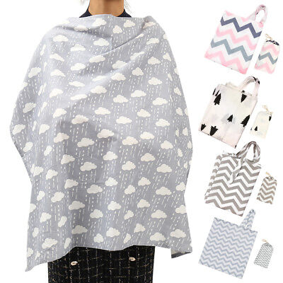 3 in 1 Baby Breastfeeding Nursing Cover Maternity Generous Blanket Cover Cotton