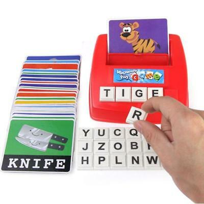 Children English Spelling Alphabet Letter Game Early Learning Educational Toy FI