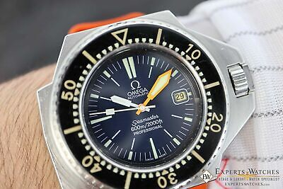 Vintage Omega Ploprof Seamaster 600 Blue Dial Ref.1660077 166.077 Diving Watch
