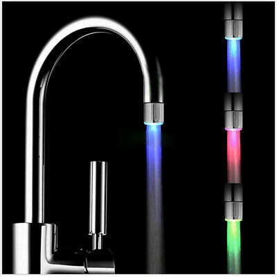 7 Color Glow Shower Waterfall Led Light Water Faucet Temperature Sensor Supply